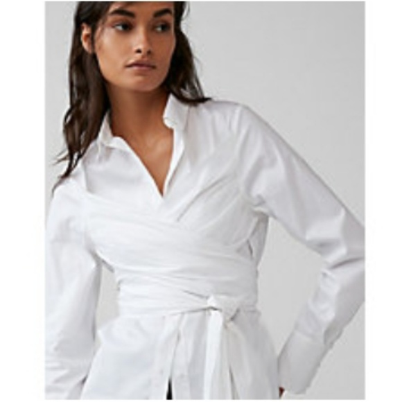 3b460982 Express Tops | Wrap Tunic Shirt | Poshmark